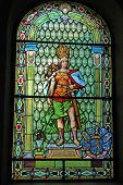 picture of serbia  - SERBIA, ZRENJANIN, NOVEMBER 24, 2013. A large stained glass representing the power of progress of human civilization. Stained glass is located in what is now the town hall and palace County earlier. The building was built from 1816 to 1820 year. - JPG