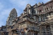 picture of ancient civilization  - ancient temple of Khmer civilization in a sunny day