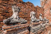 pic of gautama buddha  - Broken Buddha the ancient city of Thailand with ancient architecture style - JPG