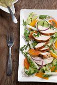 stock photo of southwest  - Southwest salad with sliced spiced - JPG