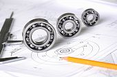 image of mechanical drawing  - Drawings of the engineer of mechanical engineering - JPG