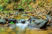 foto of smoky mountain  - Water Over Rocks, Great Smoky Mountains National Park. ** Note: Shallow depth of field - JPG