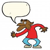 picture of gremlins  - cartoon old man with speech bubble - JPG