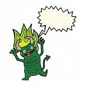 picture of demons  - cartoon demon with speech bubble - JPG