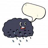 image of rain cloud  - cartoon rain cloud with speech bubble - JPG