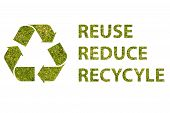 pic of reduce  - Recycle logo with text reuse reduce recycle - JPG
