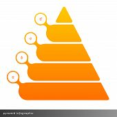 picture of pyramid  - Vector pyramid infographic shows growth with gradient fill - JPG