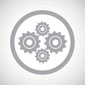stock photo of four-wheel  - Grey image of four cogs in circle - JPG
