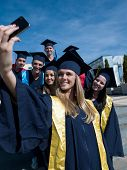 stock photo of graduation  - Capturing a happy moment - JPG