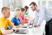 stock photo of informatics  - Students at the informatics and programming lesson  - JPG