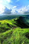 pic of rainy season  - Scenery mountain and amazing meadow in rainy season - JPG