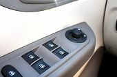image of car-window  - window switches in the car with buttons - JPG