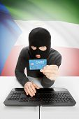image of guinea  - Cybercrime concept with flag on background  - JPG