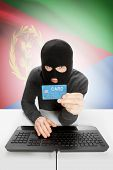 picture of eritrea  - Cybercrime concept with flag on background  - JPG