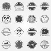 image of carpentry  - Sawmill labels and badges  - JPG