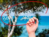 foto of soul  - Man Hand writing Body  - JPG