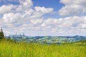 stock photo of bavaria  - Meadow on the mountain Alpspitz near Nesselwang in the Allgaeu Bavaria Germany - JPG