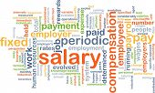 picture of employee month  - Background concept wordcloud illustration of salary - JPG