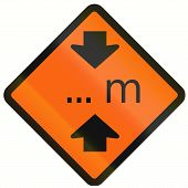 pic of restriction  - Temporary warning road sign in Indonesia - JPG
