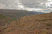 pic of plateau  - The Putorana plateau the river Bucharama - JPG