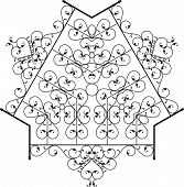 picture of wrought iron  - Wrought Iron Fireplace Grill Vector Art - JPG
