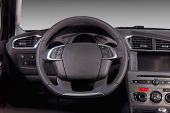 picture of steers  - steering wheel in the new modern car - JPG