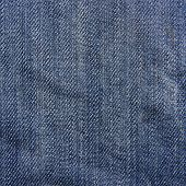 stock photo of denim jeans  - Blue denim jeans texture - JPG