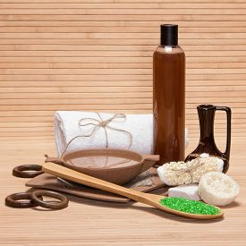 stock photo of baste  - Spa and pampering products and accessories - JPG