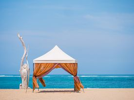 picture of canopy roof  - canopy on Kuta beach in Bali Indonesia - JPG