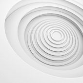 White Architecture Circular Background. Abstract Interior Design. 3d Modern Architecture Render. Fut poster