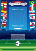 stock photo of grandstand  - Detailed soccer poster for your text or image - JPG