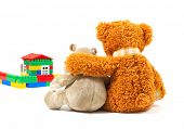 stock photo of teddy-bear  - Happy family - JPG