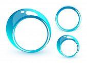 Постер, плакат: Синие круги Положите ваш символ в центре