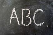 Постер, плакат: Образование изображение ABC на школьной доске