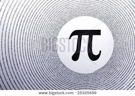 Постер, плакат: Математика Pi, холст на подрамнике