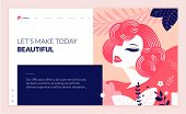 Web Page Design Template For Beauty, Spa, Wellness, Natural Products, Cosmetics, Body Care, Healthy  poster
