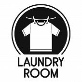 Laundry Clothes Room Logo. Simple Illustration Of Laundry Clothes Room Logo For Web Design Isolated  poster