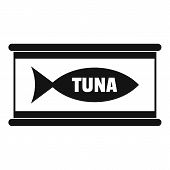 Tuna Tin Can Icon. Simple Illustration Of Tuna Tin Can Icon For Web Design Isolated On White Backgro poster