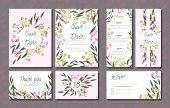 Floral Wedding Invitation With Vector Eucalyptus Leaves, Forest Herbs, Elegant Decorative Flowers. V poster