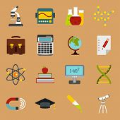 Flat Education Icons Set. Universal Education Icons To Use For Web And Mobile Ui, Set Of Basic Educa poster