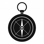 Compass Icon. Simple Illustration Of Compass Icon For Web Design Isolated On White Background poster