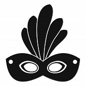 Brazil Carnival Mask Icon. Simple Illustration Of Brazil Carnival Mask Icon For Web Design Isolated  poster