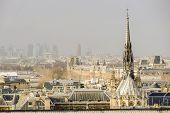 Notre Dame De Paris Church Cathedral Detail, Photo Image A Beautiful Panoramic View Of Paris Metropo poster