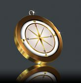 foto of compass rose  - illustration gold - JPG