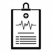 Cardiogram On Tablet Icon. Simple Illustration Of Cardiogram On Tablet Icon For Web poster