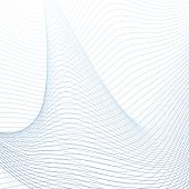 Vector Three-dimensional Figure, Futuristic Waveform. Abstract Technology Background, Curved Blue, G poster