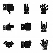 Motion Icons Set. Simple Set Of 9 Motion Icons For Web Isolated On White Background poster