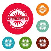 Quality Tested Logo. Simple Illustration Of Quality Tested Logo For Web poster