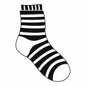 Fuzzy Sock Icon. Simple Illustration Of Fuzzy Sock Icon For Web poster