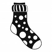 Spotted Sock Icon. Simple Illustration Of Spotted Sock Icon For Web poster